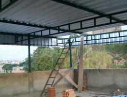 Telhado estrutura metálica